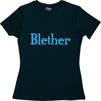 Blether Navy Blue Frauen's T-Shirt