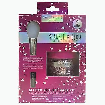 Danielle Sparkle & Glow Pink Glitter 120g Peel Off Mask & Brush Kit