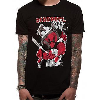 Deadpool Unisex Adults Max Action Design T-Shirt