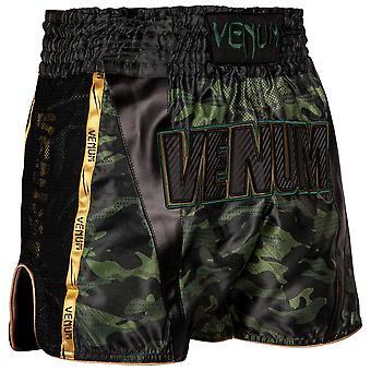 Venum Full Cam Muay Shorts Tailandeses Negro/Verde