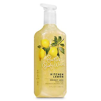 Bath & Body Works Kitchen Lemon Creamy Luxe Hand Soap  8 fl oz / 236 ml (Pack of 2)