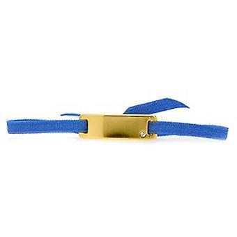 Les austauschbare Armband A55532 - Band Platte glatte Straße blau Gold gelb Frauen