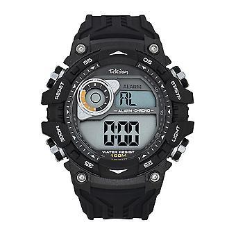 Tekday 655945 Watch - Digital Multifunction Silicone Black Men