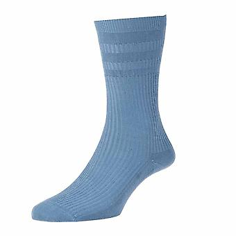 Ladies HJ91 HALL SOFTOP Soft Top loose top Wide Cotton Rich Socks 4-7 Denim