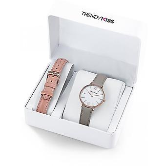Watch Trendy Kiss CTK-07 - watch Quartz leather grey woman