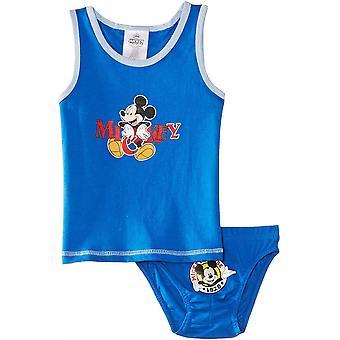 Jongens Disney Mickey Mouse mouwloos T-shirt / Vest & informeert Set