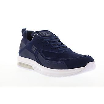 DC Vandium  Mens Blue Suede Lace Up Athletic Skate Shoes