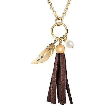Tamaris - Bella Collier with three elements in pendant - ladies - TJ007 - gold brown
