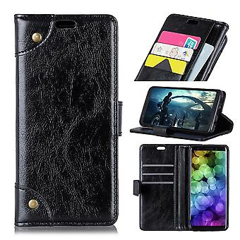 For Samsung Galaxy S10 Case Black Nappa Texture PU Leather Wallet Cover