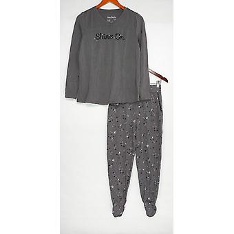 Iedereen Women's Pyjama Set Cozy Knit Gray A345310