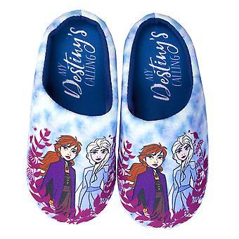 Disney Frozen 2 Destiny Girl's Kid's Blue Mule Slip-on Slippers