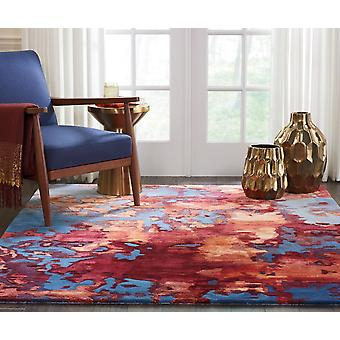 Prismatic PRS13 Blue Flame Rectangle Rugs Modern Rugs