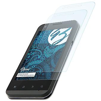 Bruni 2x Schutzfolie kompatibel mit Prestigio MultiPhone 4040 Duo Folie