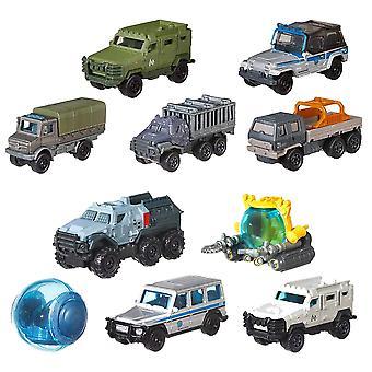 10パックマッチ箱 ジュラシックワールド車/メタルビークル