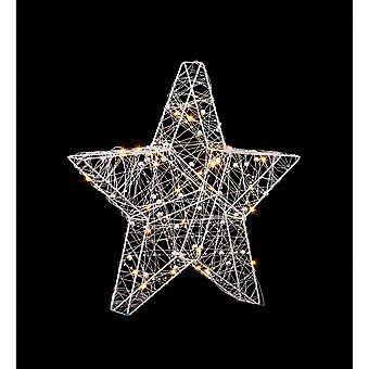 Christmas Shop Wire Star With 30 LED Lights