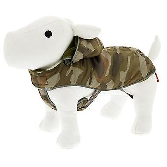 Ferribiella Camouflage Green Hooded Snowboard Coat (Dogs , Dog Clothes , Coats and capes)