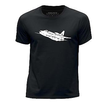 STUFF4 Boy's Round Neck T-Shirt/RAF English Electric Lightning/Black