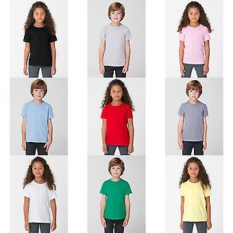 American Apparel Childrens/gyerekek sima rövid ujjú póló