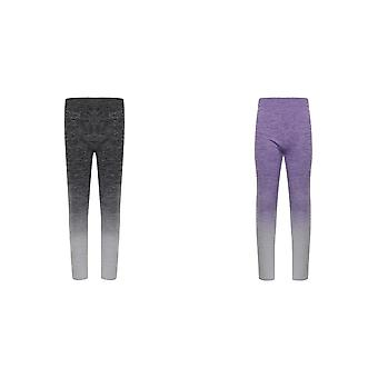 Tombo Childrens Girls Seamless Fade-Out Leggings