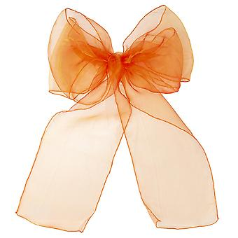 17cm x 274cm Organza Table Runners Wider et Fuller Sashes Orange