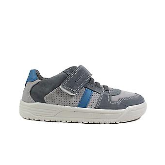 Superfit Earth 06055-26 Grey Suede/Leather Boys Rip Tape/Bungee Lace Shoes