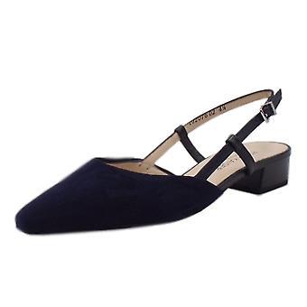 Peter Kaiser Claudia Dressy Low Heel Sandals In Notte Suede