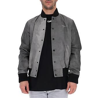Off-white Omea208s20h900031088 Men's Black Cotton Outerwear Jacket
