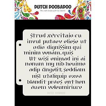Niederländisch Doobadoo niederländische Maske Art Skript 16,3x14,8cm 470.715.152