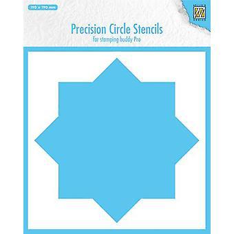 Nellie's Choice Precision stencils 8-point circle MMPCS001 190x190mm