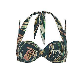 TC WoW - Palm Leaves Multiway Bikini Top - Multicolored