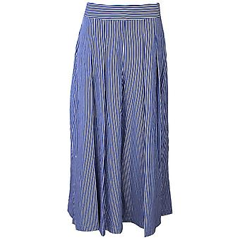 Latte Blue Pin Stripe Wide Leg Culottes