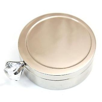 The Olivia Collection Ladies Chrome-Plate Fancy Ring Box With Mirror