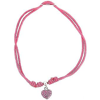 TOC-Sterling Silber Rosa Sommer Armband Armband mit Crystal Herz Charm