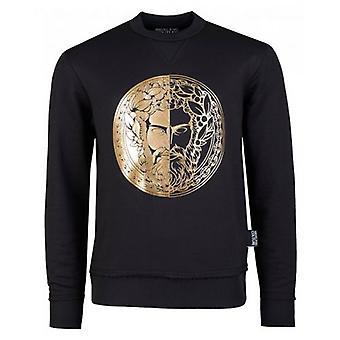Versace Jeans Couture Foil Head Logo Sweatshirt