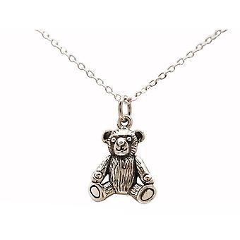 PENdentif doux de jouet d'ours en peluche GEMSHINE 3-D 925 argent, or plaqué ou rose