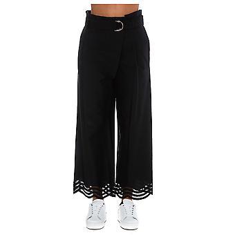 P.a.r.o.s.h. D230439013 Women's Black Cotton Pants