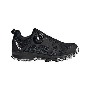adidas Terrex Agravic Boa Kids Hiking Running Trainer Shoe Black
