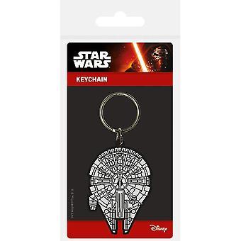 Pryžová klíčenka Star Wars Millennium Falcon