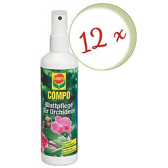 Sparset: 12 x COMPO Blattpflege für Orchideen, 250 ml