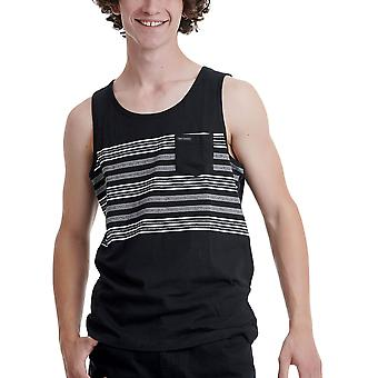 Funky Buddha Men's Tank Top In Stripe Pattern