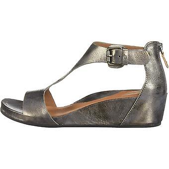 Gentle Souls Women's Gisele Low Wedge T-Strap Sandal