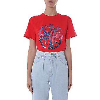 Alberta Ferretti 07031672115 Donne's T-shirt Red Cotton