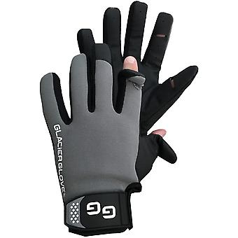 Glacier Glove Elite Angler Slit Finger Gloves - Black