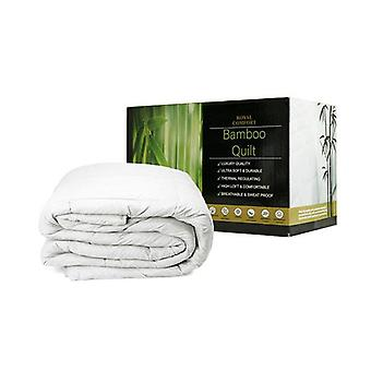 Royal Comfort Bamboo Quilt 350Gsm Luxury Hotel Boxed White