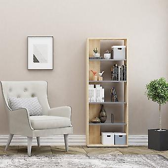 Swan Color Anthrather's Bookcase, Oak in Melaminic Chip 60x22x163 cm