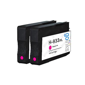 2 Go Inks Magenta Compatible Printer Ink Cartridges to replace HP 933M (XL Capacity) Compatible / non-OEM for HP Officejet Printers 2 Go