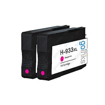 2 Vá Tintas Magenta Cartuchos de tinta de impressora compatíveis para substituir HP 933M (Capacidade XL) Compatível / não-OEM para impressoras HP Officejet