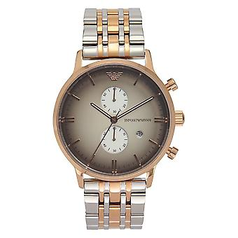 Armani Ar1721 Rose Gold-tone & Stainless Steel Multifunction Mens Watch