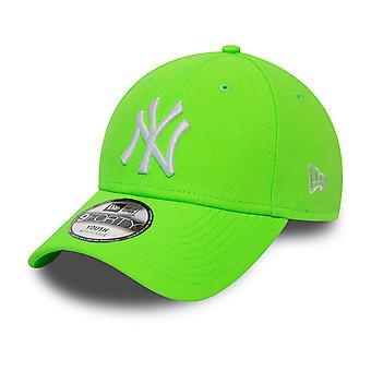 New Era 9Forty KIDS Cap - New York Yankees neon green