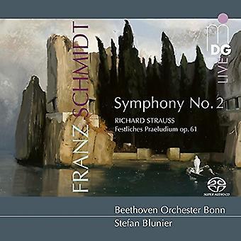 Strauss / Noll / Blunier - Symphony 2 / Festliches Praeludium 61 [SACD] USA import
